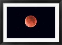 Framed Total lunar eclipse taken near Calgary, Alberta, Canada