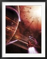 Framed Starships hone their skills in a virtual battlefield