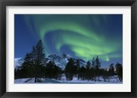 Framed Aurora Borealis over Nova Mountain Wilderness, Troms, Norway
