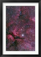 Framed Sadr region of Cygnus around Gamma Cygni