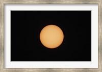 Framed Sunspots on the Sun's surface