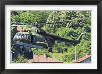Framed Bulgarian Air Force Mi-17 helicopter, Bulgaria