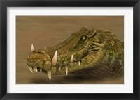 Framed Kaprosuchus saharicus head detail