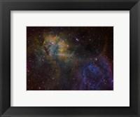Framed Sharpless 2-132 emission nebula