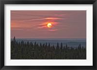 Framed Sunset at Horseshoe Canyon, Cypress Hills Interprovincial Park, Alberta, Canada