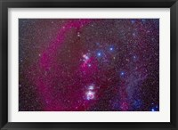 Framed Orion Nebula, Belt of Orion, Sword of Orion and nebulosity