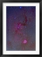Framed Rosette Nebula with nebulosity complex in Monoceros