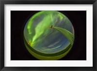 Framed aurora display taken from Wintering Hills Wind Farm, Alberta, Canada
