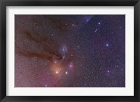 Framed Antares and Scorpius Head area with Rho Ophiuchi nebulosity