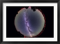 Framed Fish-eye lens view of the summer Milky Way