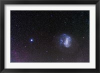 Framed Large Magellanic Cloud and bright star Canopus