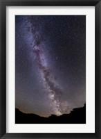 Framed summer Milky Way in southern Alberta, Canada