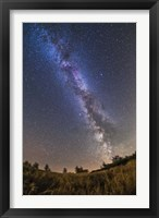 Framed summer Milky Way on a clear moonless evening in Alberta, Canada