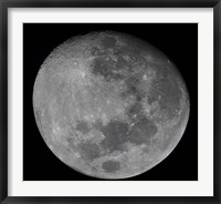 Framed waxing gibbous moon in a high resolution mosaic