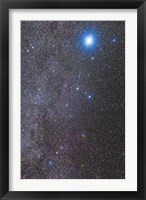 Framed Constellations Canis Major and Puppis with nearby deep sky objects