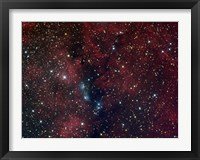 Framed NGC 6914, reflection nebula in Cygnus