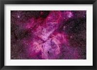 Framed Carina Nebula in the southern sky