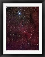 Framed Elephant's trunk nebula inside IC 1396