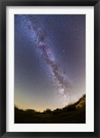 Framed Northern summer/autumn Milky Way from horizon to past the zenith, Alberta, Canada