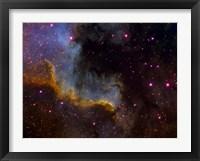 Framed Close-up view of North America nebula