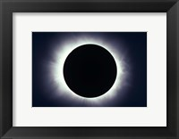 Framed Total solar eclipse taken near Carberry, Manitoba, Canada