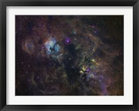 Framed Widefield image of narrowband emission in Cygnus
