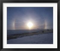 Framed Solar halo, Alberta, Canada