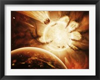Framed Hand of Destiny Nebula is devouring the star Abigor