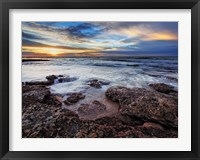 Framed seascape at sunrise from Miramar, Argentina