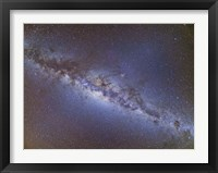 Framed Full frame view of the Milky Way from horizon to horizon