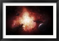 Framed birth of numerous stars exposing their light to the universe