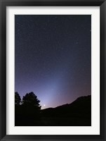 Framed Venus setting and a bright cone of zodiacal light visible after sunset
