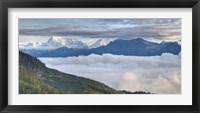 Framed Asia, Bhutan, Mt Jumolhari, Chelela Pass