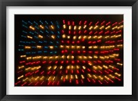 Framed Americana Flag made of zoomed Neon Lights