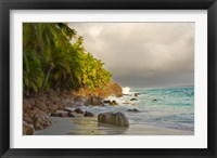 Framed Anse Beach on Fregate Island, Seychelles