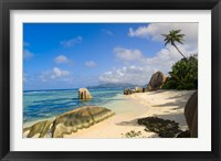 Framed Rock formations, La Digue Island, Seychelles