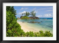 Framed Coastal view on Mahe Island, Seychelles