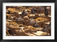 Framed Flat And Conical Roofs, Village of Songo, Dogon Country, Mali, West Africa