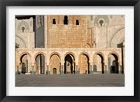 Framed Hassan II Mosque, Casablanca, Morocco, North Africa