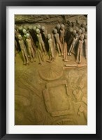 Framed Court eunuchs, terra cotta warriors, excavation, China