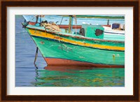 Framed Fishing boats in the Harbor of Alexandria, Egypt