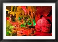 Framed Cave stalagmites, stalactites, Mutianyu, China,