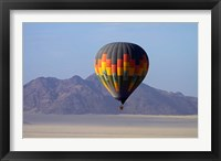 Framed Aerial view of Hot air balloon over Namib Desert, Sesriem, Namibia