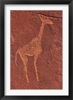Framed Ancient rock etchings, Twyfelfontein, Damaraland, Namibia