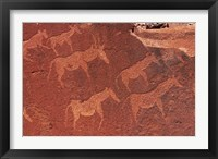 Framed Ancient rock etchings, Twyfelfontein, Damaraland, Namibia, Africa.