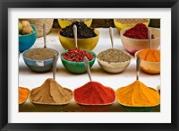 Framed Bowls with Colorful Spices at Bazaar, Luxor, Egypt