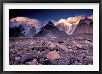 Framed Broad and Gasherbrun Peaks, Karakoram Range, Pakistan