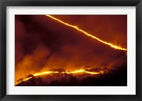 Framed Forest Fire, Gombe National Park, Tanzania