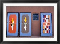 Framed Colorful Doors Made by Local Metalworkers, Morocco
