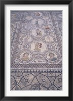 Framed Abduction of Hylas Mosaic on Floor of an Ancient Roman Building, Morocco